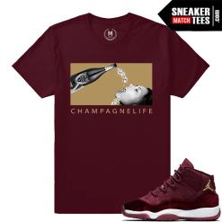 Sneaker Shirts Match Velvet Maroon Jordan 11s