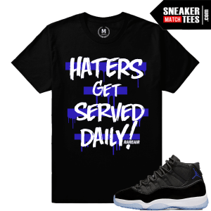 Sneaker Tee shirts Space Jam 11 Concord Purple Match