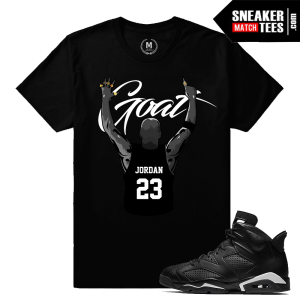Sneaker Tee Match Jordan 6 Black Cat