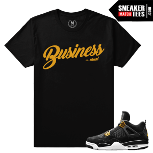 Jordan 4 Royalty Matching Tees Shirt
