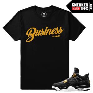 Jordan 4 Royalty Matching Tees Shirt