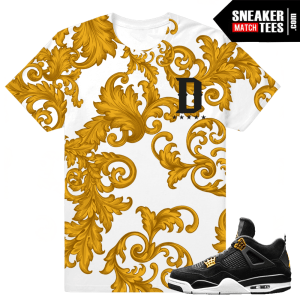 Jordan 4 Royalty Tee Shirt Match Retro 4