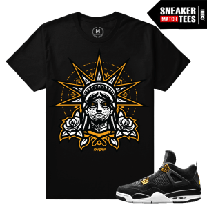 Match Jordan 4 Royalty Retro T shirt