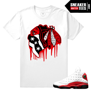 Chicago 13s Match Tee shirt Air Jordan
