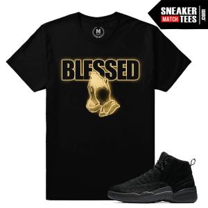 T shirts Match Air Jordan 12 OVO Black