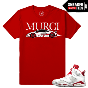 Shirts Match Air Jordan 6 Retro Alternate White Red