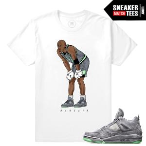 Sneaker T shirts Air Jordan 4 Kaws