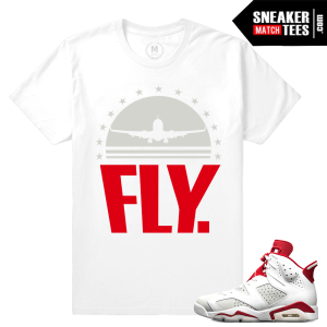 Sneaker tee shirt match Air Jordan 6 Alternate