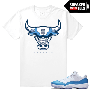 Air Jordan 11 University blue T shirt Match