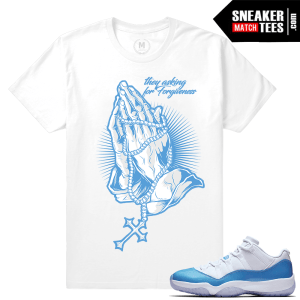 Air Jordan 11 University blue match T shirt