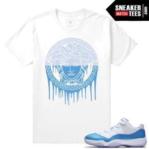 Air Jordan 11 University blue sneaker tees