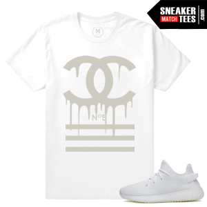 All White Yeezy Boost 350 T shirts