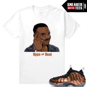 Copper Foamposite Nike Sneaker Match tees
