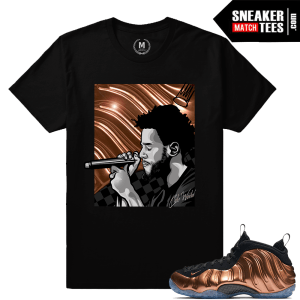 Copper Foamposite Sneaker tee Shirt Match