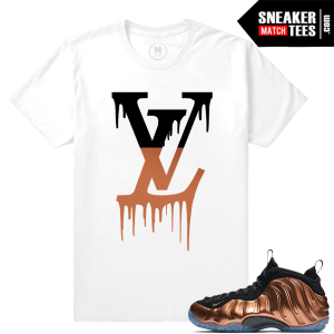 Copper Foams Matching Sneaker tee shirt