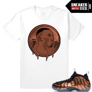Copper Foams t shirt Match Sneakers