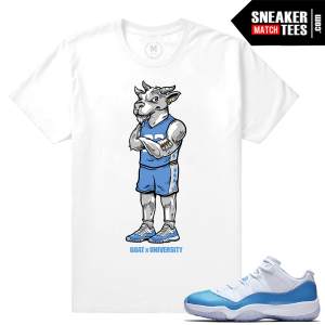 Jordan 11 Low UNC matching shirt