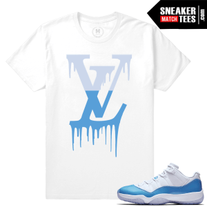 Match Air Jordan 11 UNC t shirt