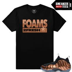 Match Copper Foamposite shirts