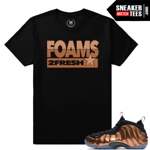 Match Copper Foamposite shirts