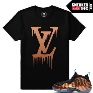 Shirts match Nike Foamposite Copper foams