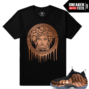 Shirts matching copper foamposite nike