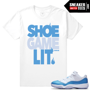 Sneaker T shirts University Blue 11 Jordans