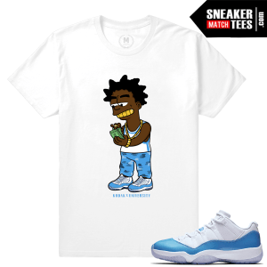 University Blue 11s Matching Sneaker tee