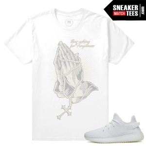 Yeezy Boost White t shirt Sneaker tees