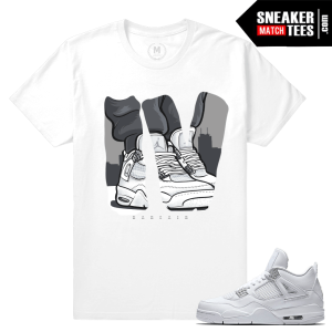6ffd38ad9f2b Match Air Jordan 4 Pure Money Love Of Kicks White T Shirt