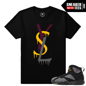 Bordeaux Jordan 7s t shirt