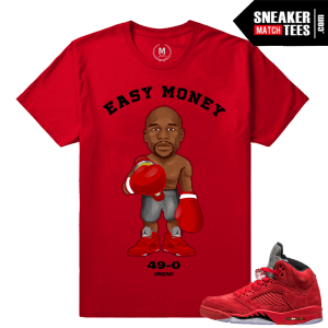 Flyod Mayweather Jr T shirt Matching Red Jordans