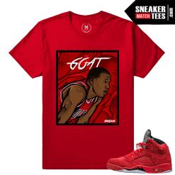Jordan 5 Red Suede Custom t shirt