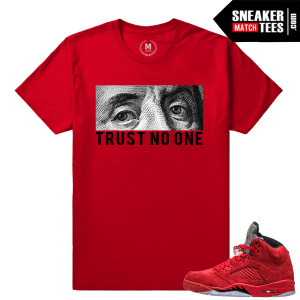 Jordan 5 Shirt match Jordan 5 Red Suede