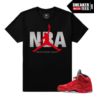 Jordan 5 shirts match All Red Jordan 5