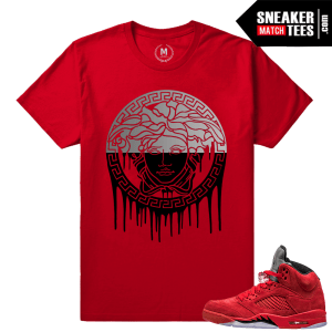 Jordan 5 shirts match All red Jordans