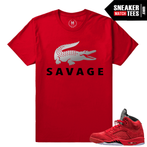Jordan 5 shirts to match Red Suede 5s