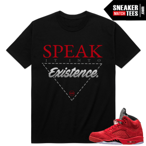 Red Suede 5s Sneaker Match Retro 5 Shirts