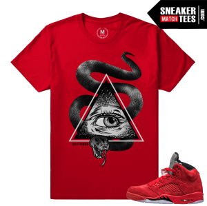 Retro 5 shirts Red Suede