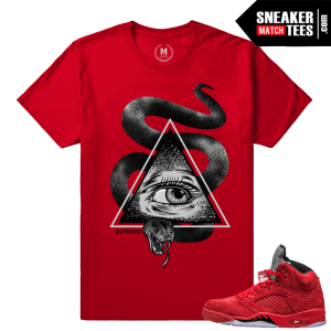Retro 5 shirts Red Suede