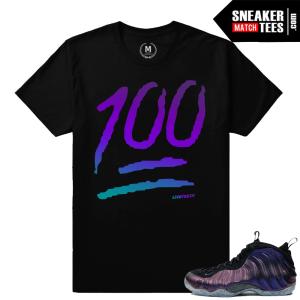 Eggplant Foams sneaker shirts match