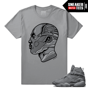 Air Jordan Retro 8 Cool Grey Sneaker tees Streetwear