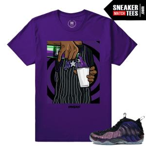 Eggplant Foams sneaker shirt match