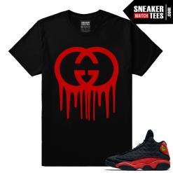 Jordan 13 Bred Gucci Drip designer Streetwear Shirt