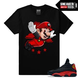 Jordan 13 Bred Matching Sneaker tees Streetwear