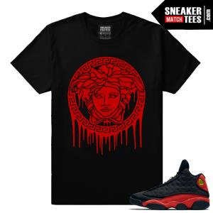 Jordan 13 Bred Medusa Drip T shirt