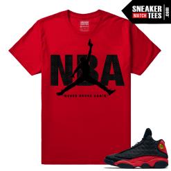 Jordan 13 Bred NBA Red t shirt to match
