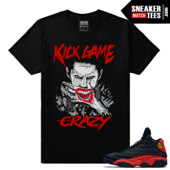 Jordan 13 Retros matching Bred 13 Streetwear shirt clothing