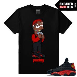 Jordan 13 shrits to match Bred 13s sneaker tees