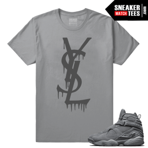 Jordan 8 Cool Grey Retros Sneaker tees shirts